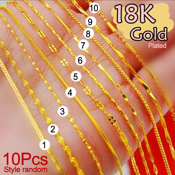 Sterling, goldplated, 18k gold, Genuine