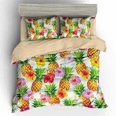 3pcsbeddingset, pineappleduvet, cartoonbedding, Bedding