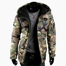 hooded, Army, Coat, man jacket