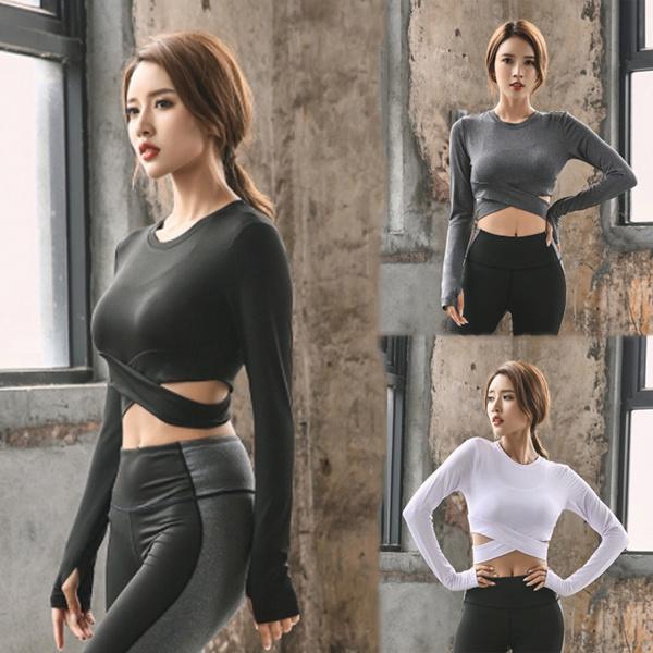 Fashion, Yoga, Sleeve, Elastic