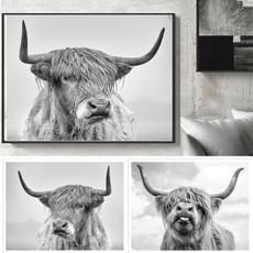 cow, Decor, art, Home Decor