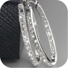 Sterling, Fashion, Sterling Silver Earrings, Elegant