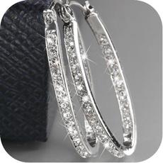 Sterling, Fashion, Sterling Silver Earrings, Elegant