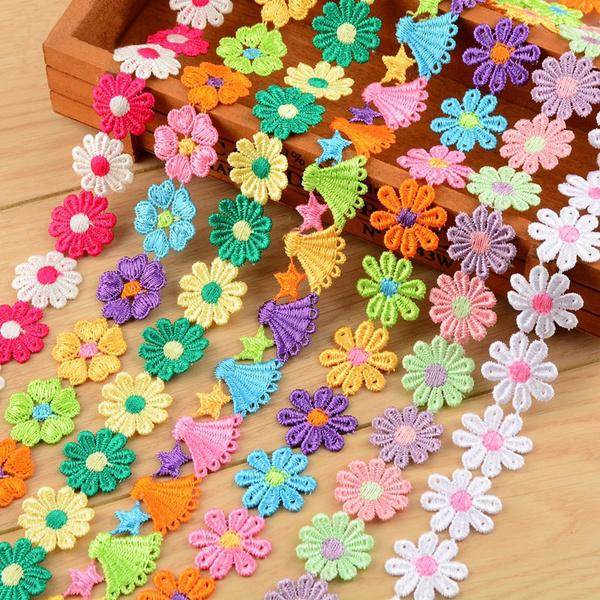 Craft Supplies, lace trim, Tassels, Flowers