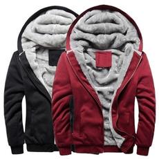 Fashion, Winter, Fleece Hoodie, Coat
