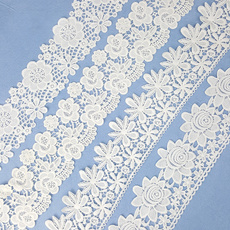 lace trim, Flowers, wedding dress, Lace
