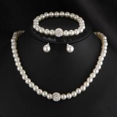 Charm Jewelry, bridejewelry, Pearl Bracelet, Chain