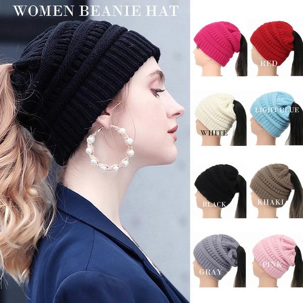 Warm Hat, Beanie, Fashion, ponytailbeanie