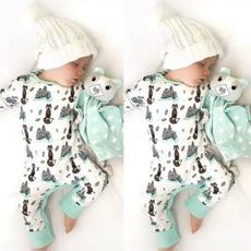 Baby, longsleevejumpsuit, Cotton, cartoonkidsjumpsuit
