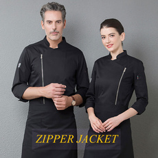 cookcoat, kitchenwear, restaurantwear, zippers
