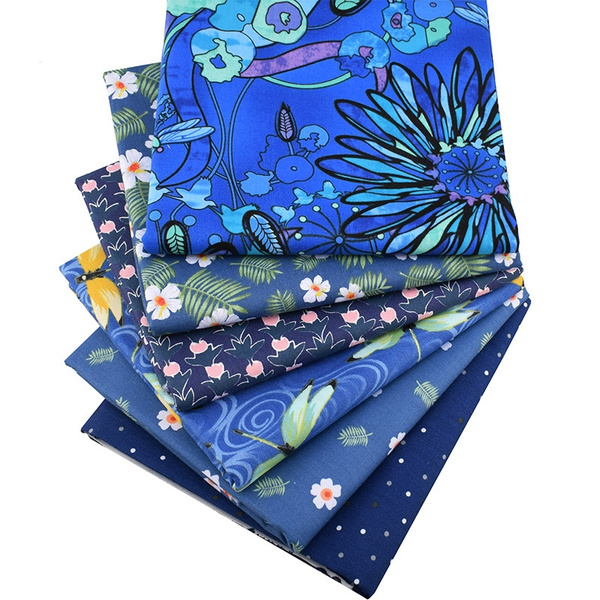 sew, Blues, Flowers, Quilting