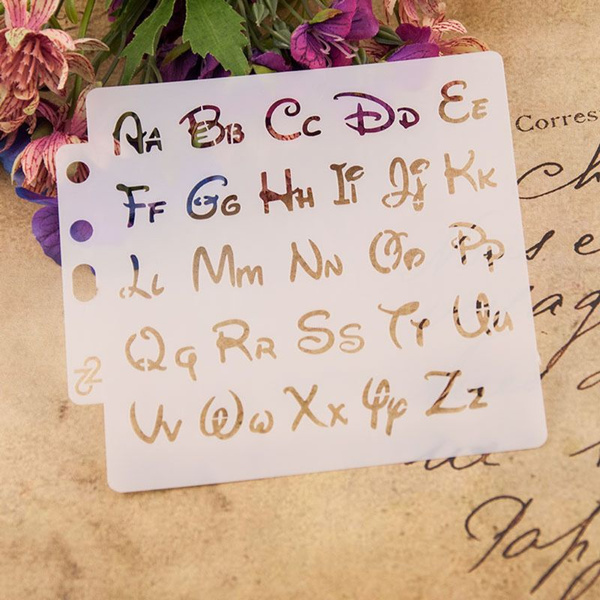 Alphabet Painting Stencil Scrapbooking Embossing Stamping Album Card DIY Craft