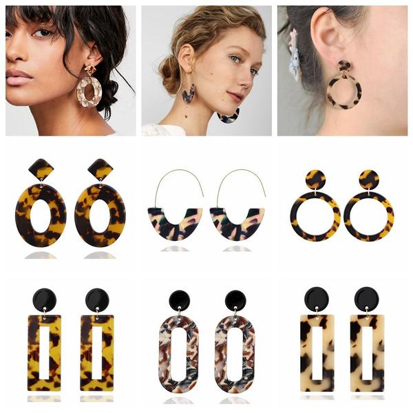 Multi color leopard Earrings