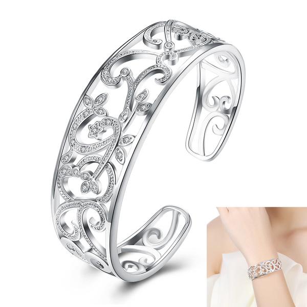 silverjewelery, Charm Bracelet, DIAMOND, Jewelry