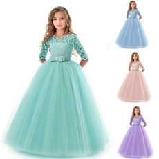 girls dress, floorlengthdre, Princess, Lace