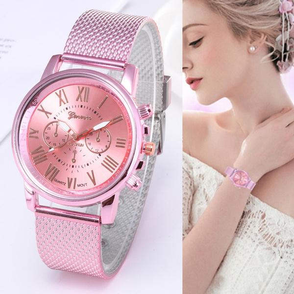 pink, dial, quartz, Computers
