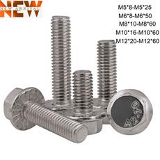 Steel, screw, Head, flangedbolt