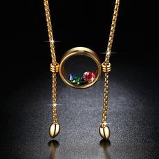 korea, roundglassbottle, Jewelry, Chain