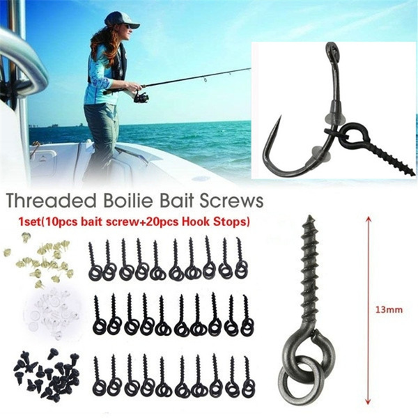 carp rig ring stops /& boilie bait screw fishing bait ring swivel carp fishing✔GB