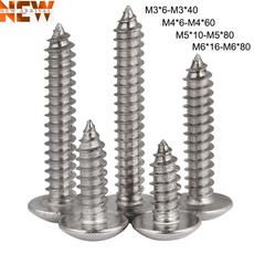 Steel, screw, Head, m3selftappingscrew