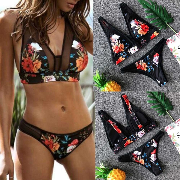 Fashion, bikini set, swimsuits for women, padded