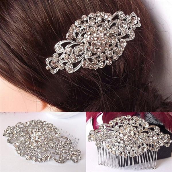 diamondhairpin, Bride, Vintage, hair