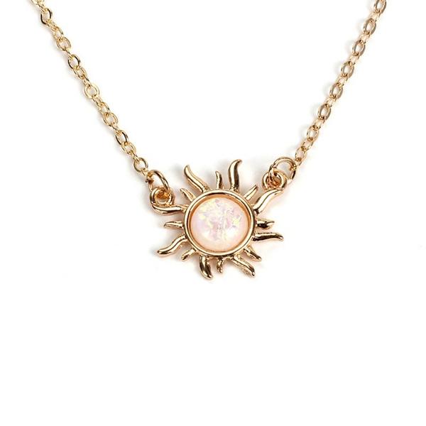 Flowers, Jewelry, gold, women necklace