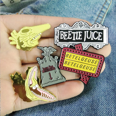 beetlejuice, sciencefiction, gothpunk, lapelpin