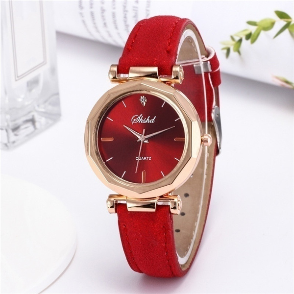 Fashion, gold, leather strap, Simple