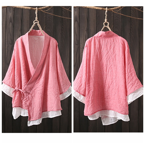 Cotton, Fashion, laceupjacketcoatforwomen, Chinese