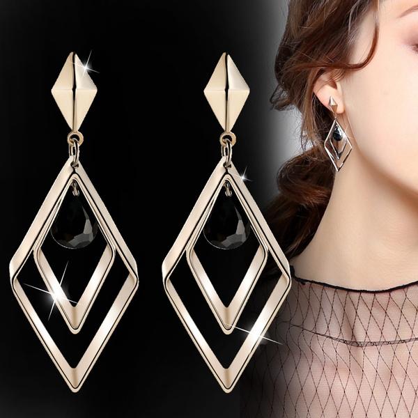 Sterling, party, DIAMOND, Dangle Earring