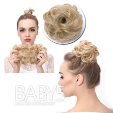 wig, Synthetic, scrunchie, pony