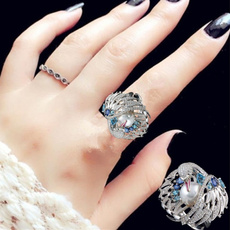 Couple Rings, crystal ring, Jewelry, 925 silver rings