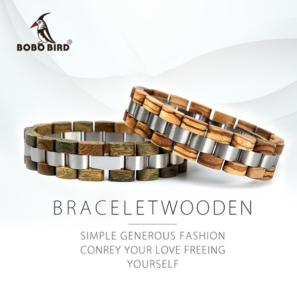 Steel, woodenband, Fashion, Stainless Steel