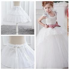 lace trim, elastic waist, girlswhitepetticoat, Lace