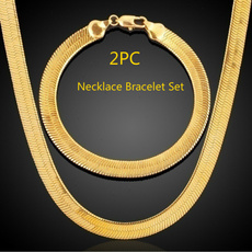 goldplated, Chain Necklace, 18k gold, punk necklace