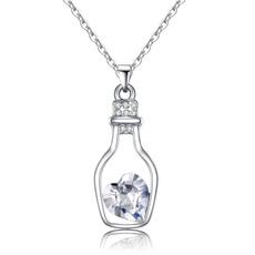 Heart, Romantic, Bottle, Crystal