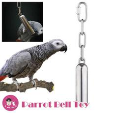 stainlesssteelbell, birdstandtoy, Toy, greysbelltoy