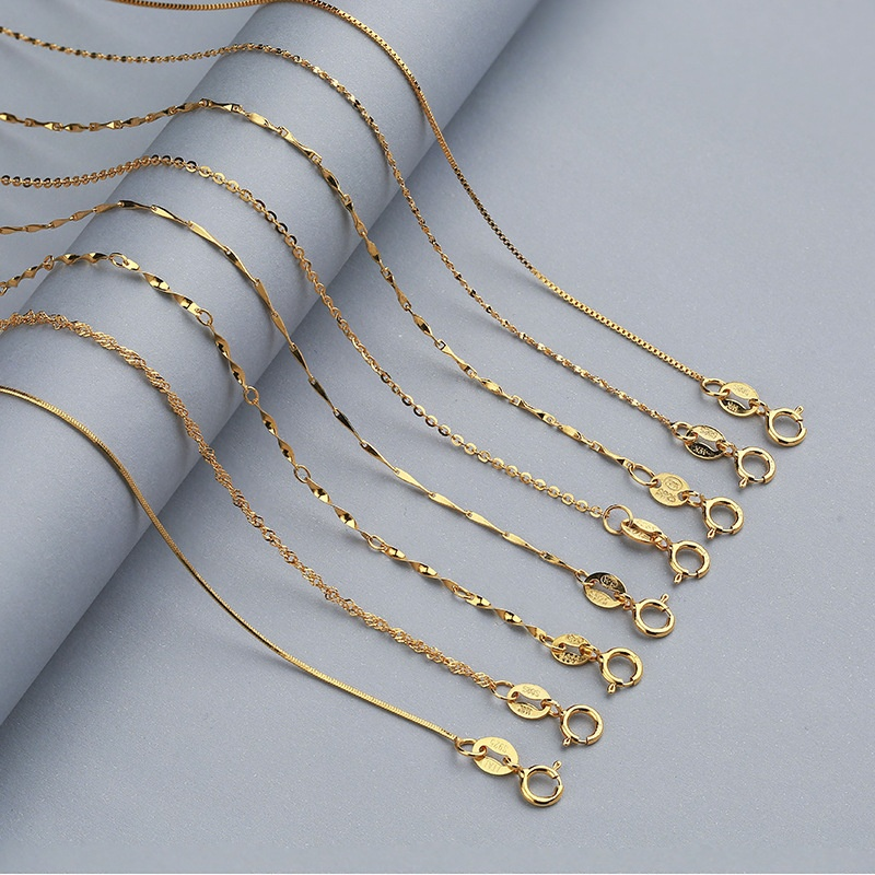 """Women Fashion 925 Solid Silver Snake Bead Wave Chains Pendant Necklace 16-24/"""""""
