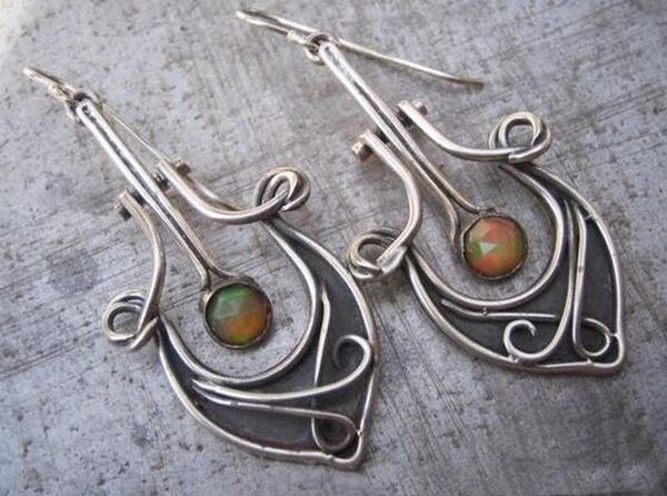 Hoop Earring, Dangle Earring, Jewelry, vintage earrings