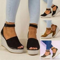 wedge, Sandals, Women Sandals, Womens Shoes