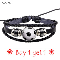 black bracelet, Soccer, Football, Jewelry