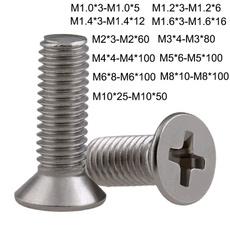Steel, screw, Head, Stainless Steel