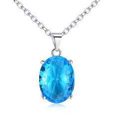 crystal pendant, sapphirependant, Jewelry, Gifts