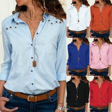 blouse, Plus size top, Office, Women Blouse