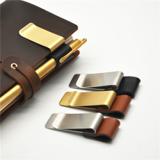 penclip, selfadhesivepenclip, Stainless Steel, leather