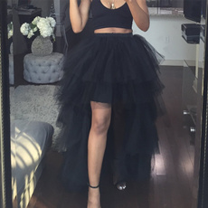 fishtailskirt, black skirt, long skirt, Waist