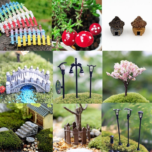 Miniature Fairy Garden Ornament Decor Pots Craft Accessories Dollhouse DIY C9O6