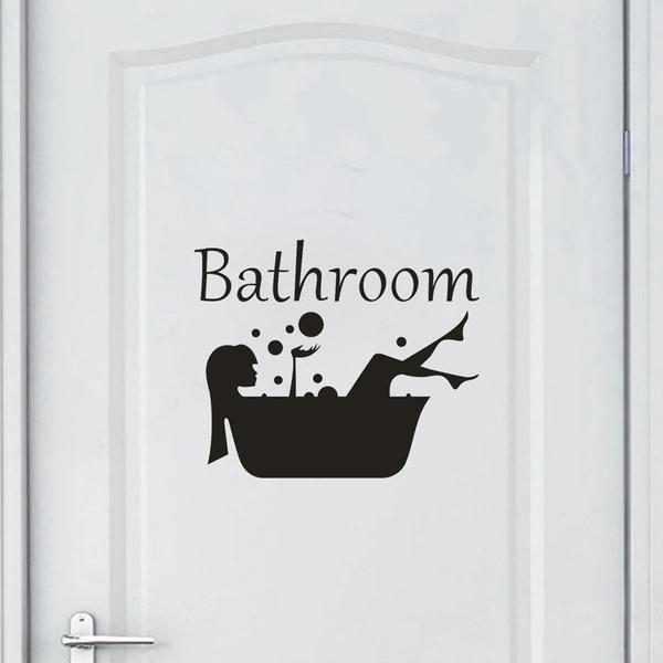 Funny, Bathroom, bathroomsticker, glasssticker