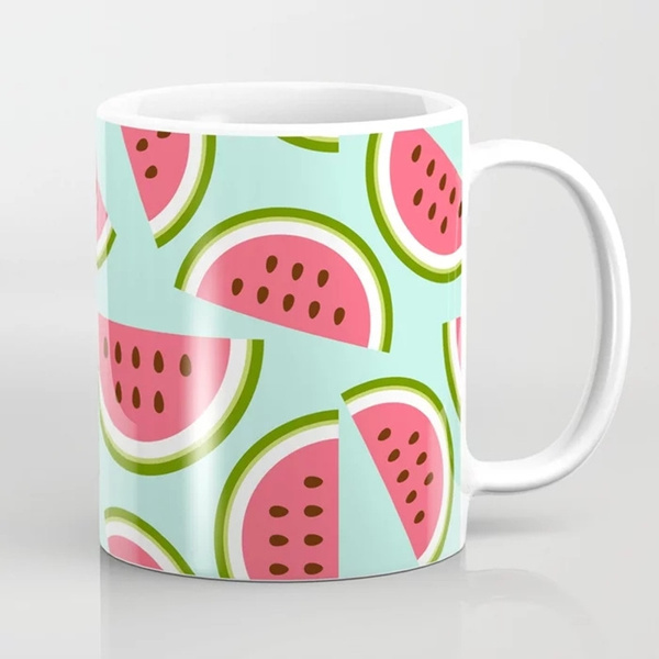 watermelonlovergift, Coffee, fruitmug, watermeloncoffeemug